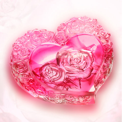 Paperweight (Heart Shape, Pure Love) - Reflecting the Flower Within Your Heart