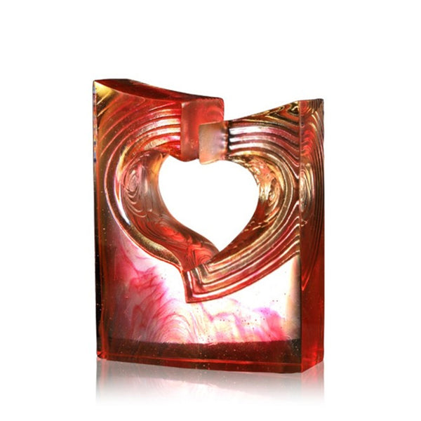 Heart Shape Figurine (My Only Love) - The One - LIULI Crystal Art | Collectible Glass Art