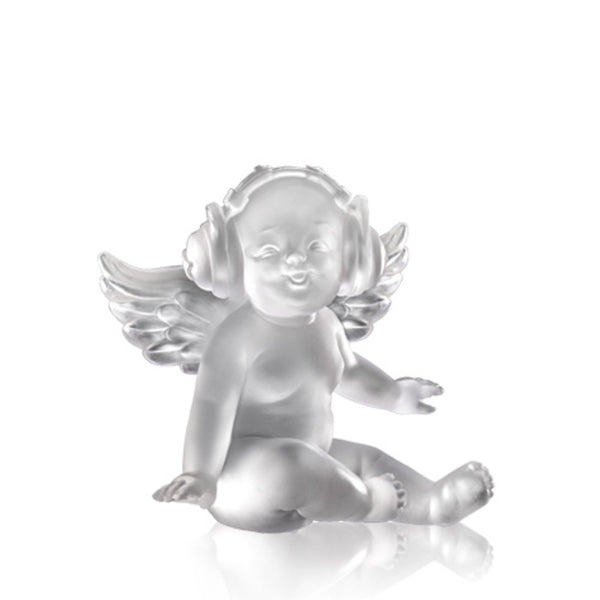 Love is A Song (Joy of Music) - Angel Figurine - LIULI Crystal Art | Collectible Glass Art