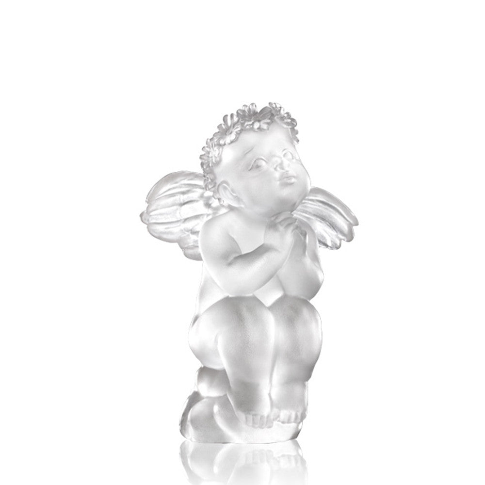 When You Wish Upon A Star (Joy of Dream Comes True) - Angel Figurine - LIULI Crystal Art | Collectible Glass Art