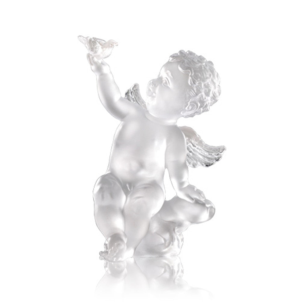 Over the Rainbow (Joy of Having A Dream) - Angel Figurine - LIULI Crystal Art | Collectible Glass Art