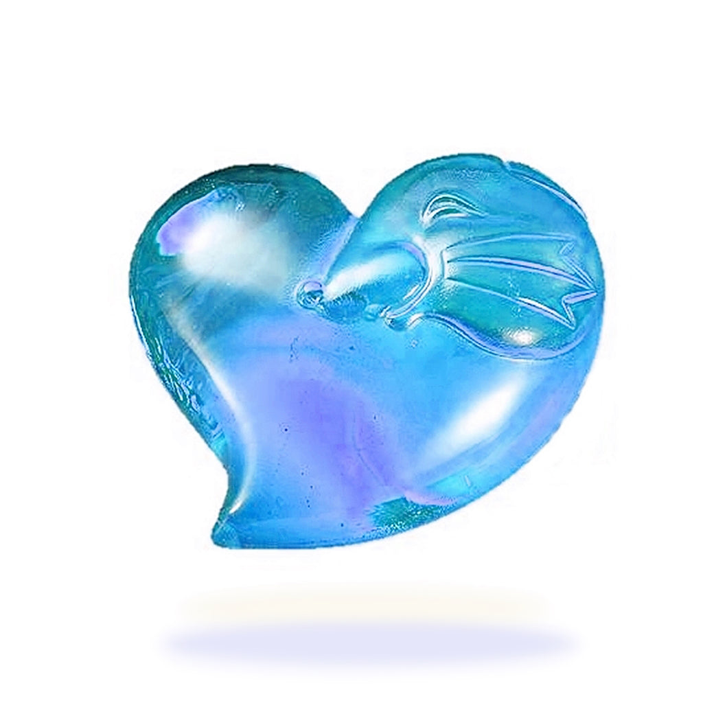 Crystal Paperweight, Heart Shape Mouse, Zodiac, The Mouse-Its Star, Its Heart - LIULI Crystal Art