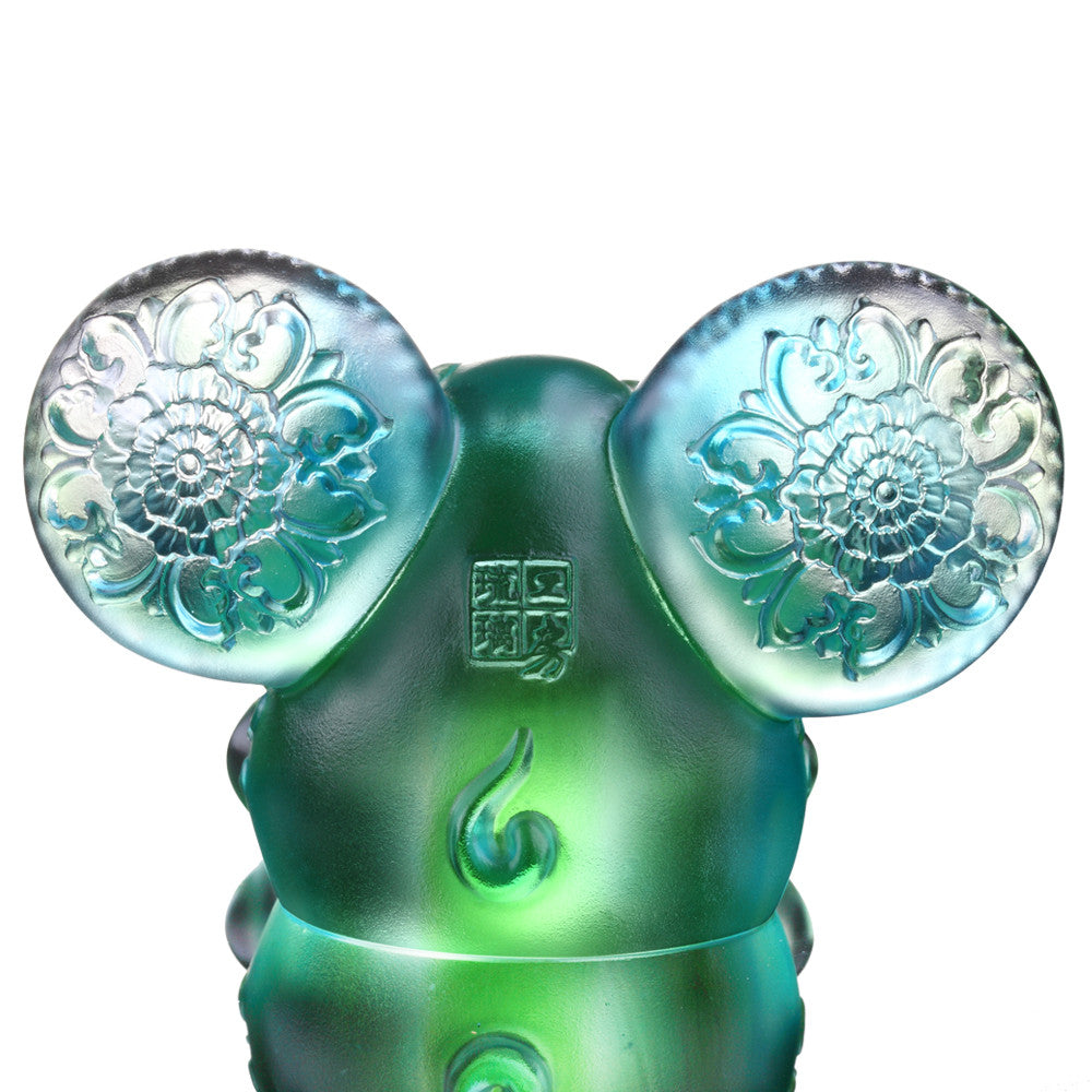 Crystal Animal, Mice, Mouse, Zodiac-Year of the Rat, Come Fortune - LIULI Crystal Art