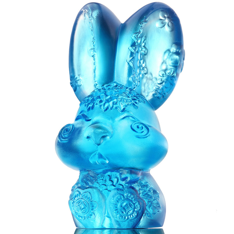 Crystal Zodiac, Animal, Bunny, Year of the Rabbit, Darling - LIULI Crystal Art
