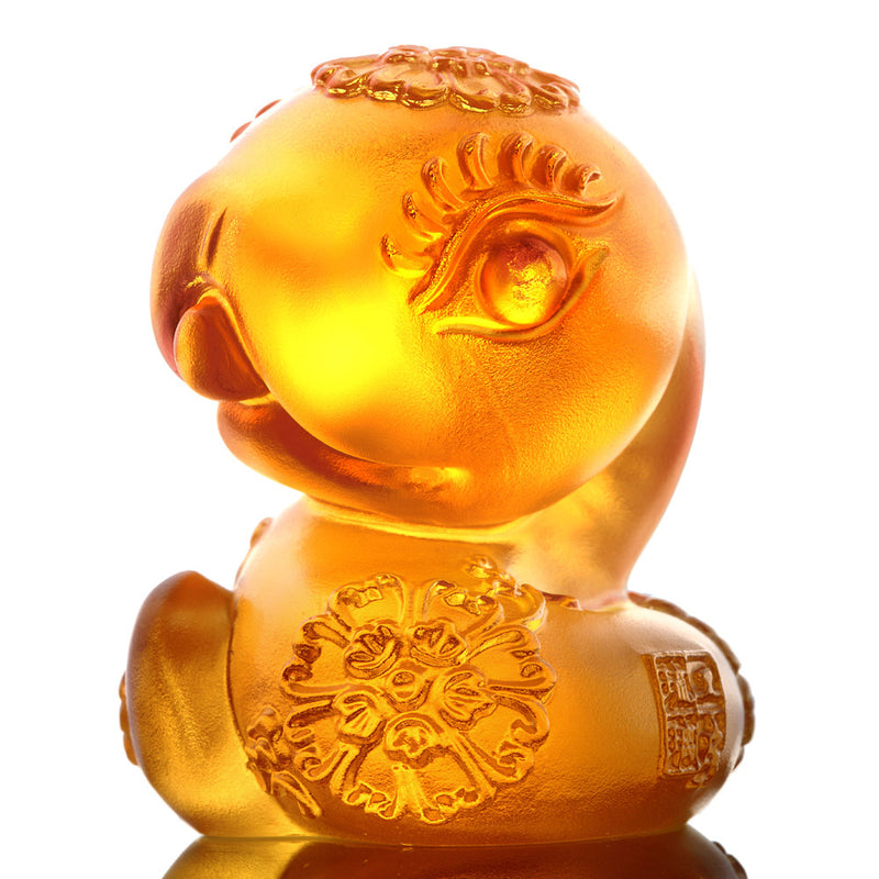 Crystal Zodiac, Animal, Year of the Snake, Serpentine - LIULI Crystal Art