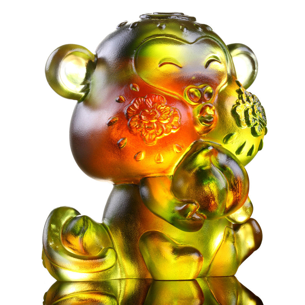 Little Saint (Zodiac, Ambition) - Monkey Figurine - LIULI Crystal Art - [variant_title].