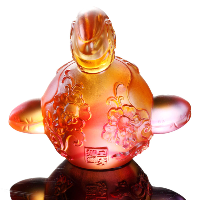 Crystal Zodiac, Animal, Year of the Rooster, The First Call - LIULI Crystal Art