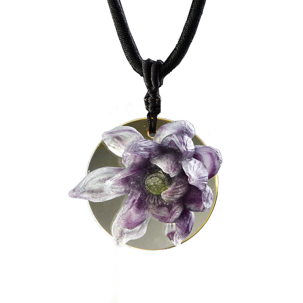 "Necklace (Crystal Flower Figurine) - ""The Lotus Gift"""