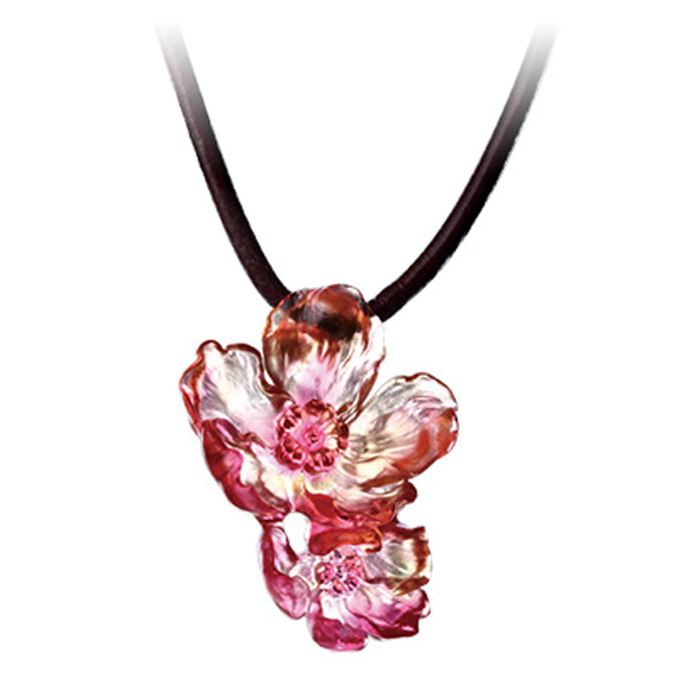 Crystal Pendant, Necklace, Flower, Good In Togetherness - LIULI Crystal Art