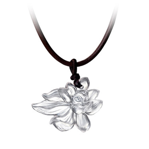 "Necklace (Crystal Flower) - ""Lotus Heart of Purity"""