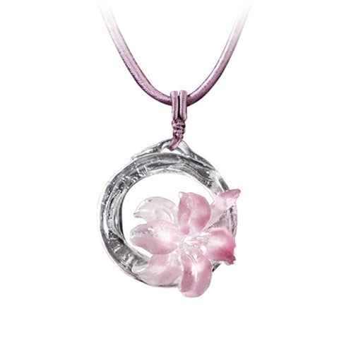 "Necklace (Crystal Flower) - ""Bloom of a New World"""