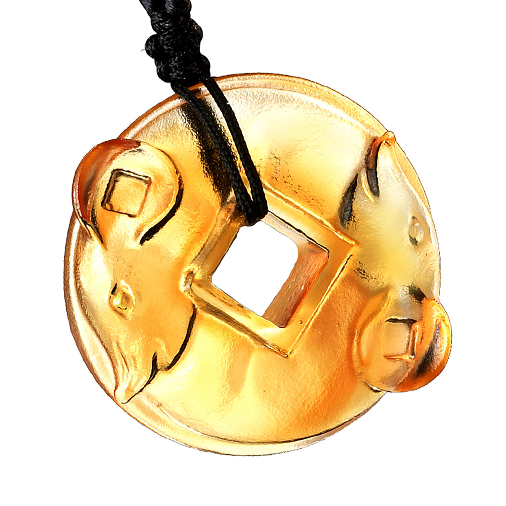-- DELETE -- Pendant (Zodiac, Mouse) - Wheel of Opportunity - LIULI Crystal Art - [variant_title].