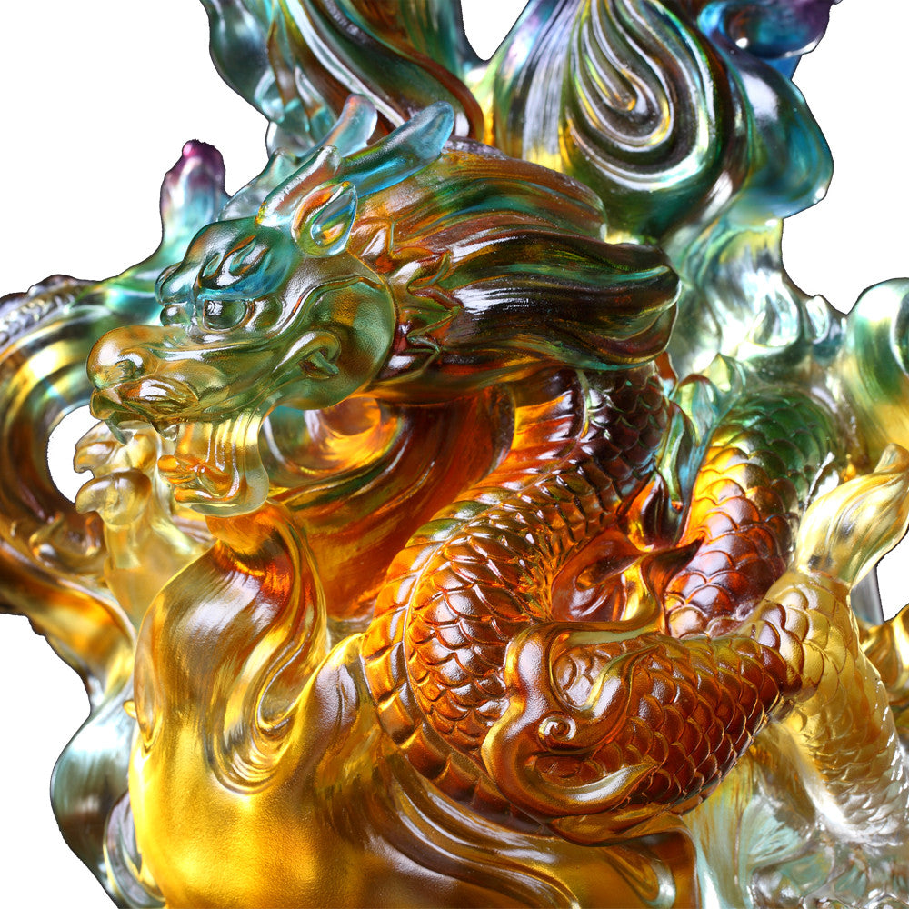 Fiery Illumination Baoping (Treasure Vase) - Dragon of Fire Element - LIULI Crystal Art - [variant_title].