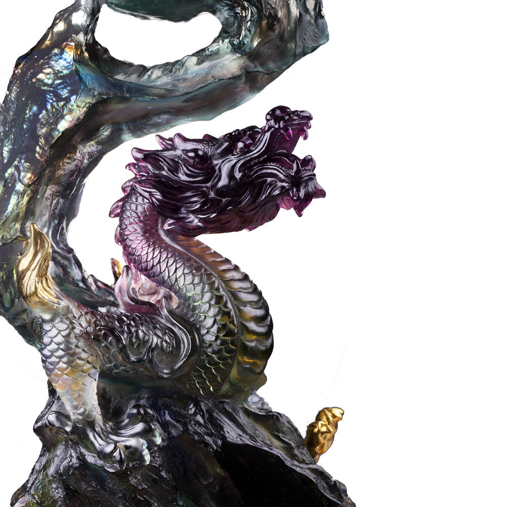 Heavenly Exaltation Baoping (Treasure Vase) - Dragon of Earth Element - LIULI Crystal Art - [variant_title].