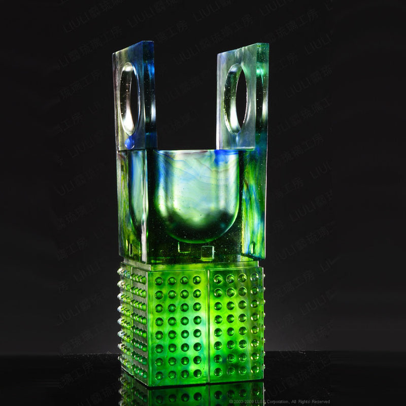 Heaven, Earth, Excellence-Ringing Through the Heavens (Majestic), Vessel - LIULI Crystal Art