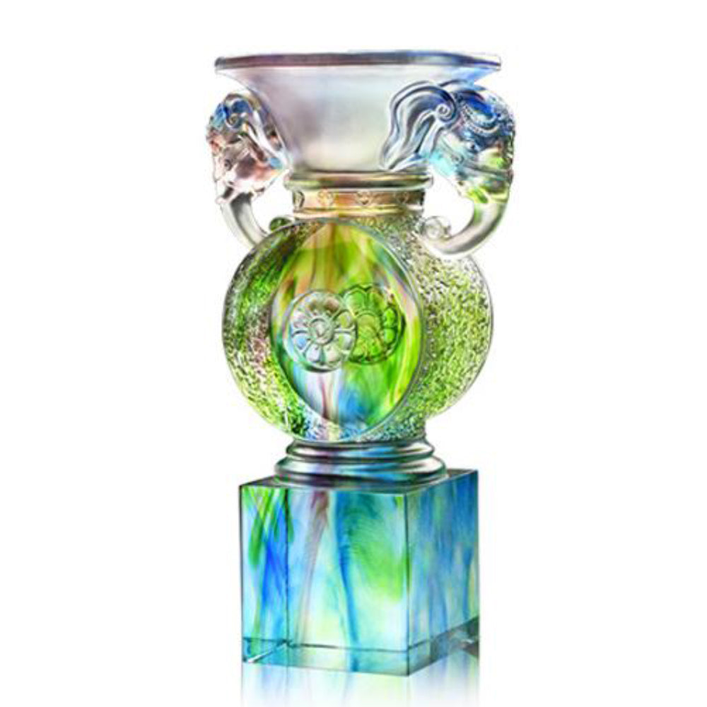 -- DELETE -- Elephant Goblet of Ascendancy - Elephant Figurine (Generosity) - LIULI Crystal Art