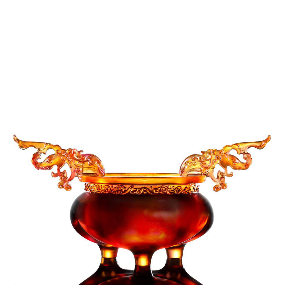 Crystal Vessel, Chinese Ding, Celebratory Ding - LIULI Crystal Art