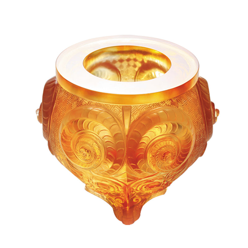 Convergence of Strength (Partnership), Vessel, Chinese Ding - LIULI Crystal Art - [variant_title].