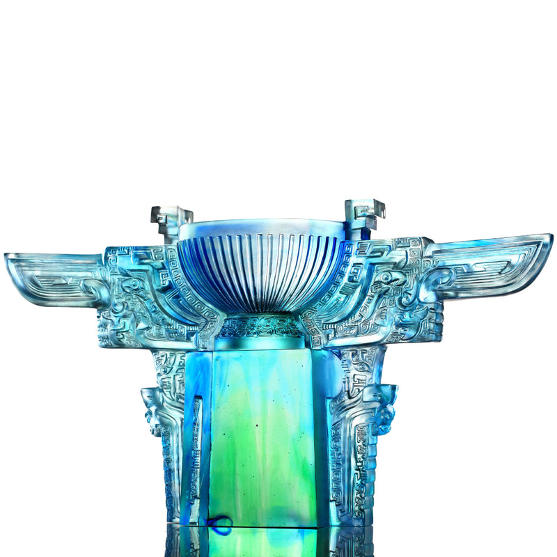Crystal Vessel, Chinese Ding, Resolution with Sincerity-Ding of Illustrious Glory - LIULI Crystal Art - [variant_title].
