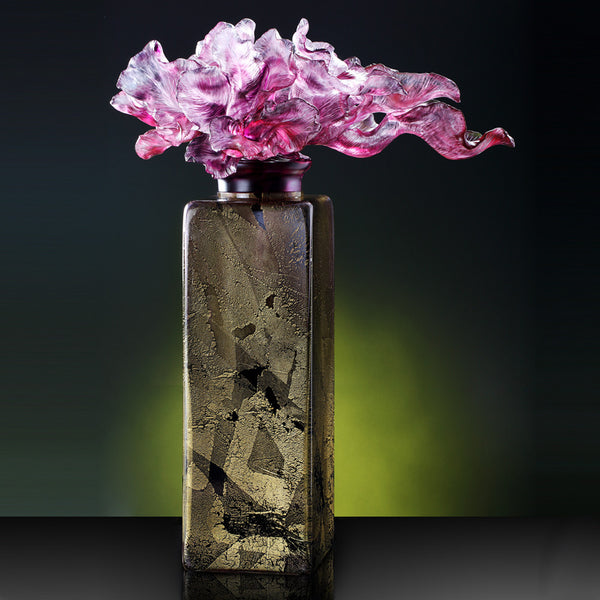A Vase of Riches  (Treasure Vase, Praising) - In Praise of the Tulip - LIULI Crystal Art