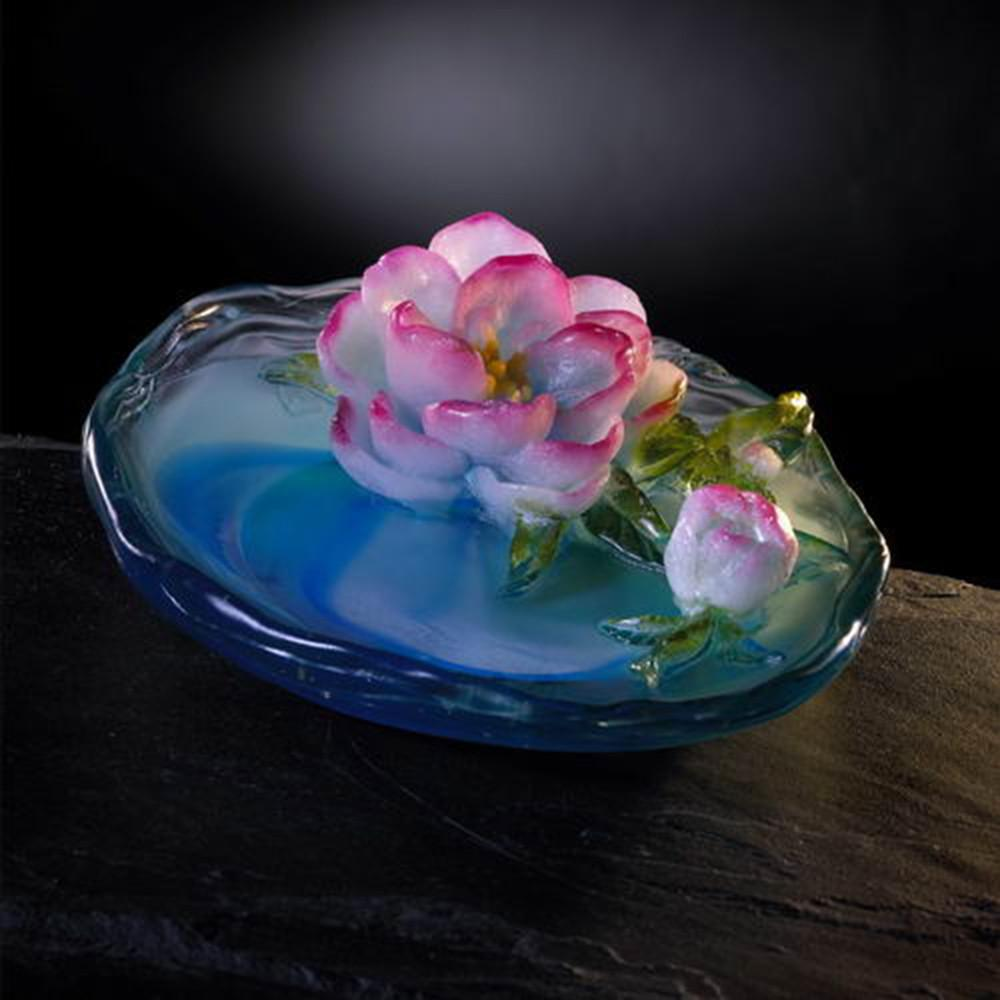 Crystal Flower, Flower of the Month, Peach Blossoms-March - LIULI Crystal Art