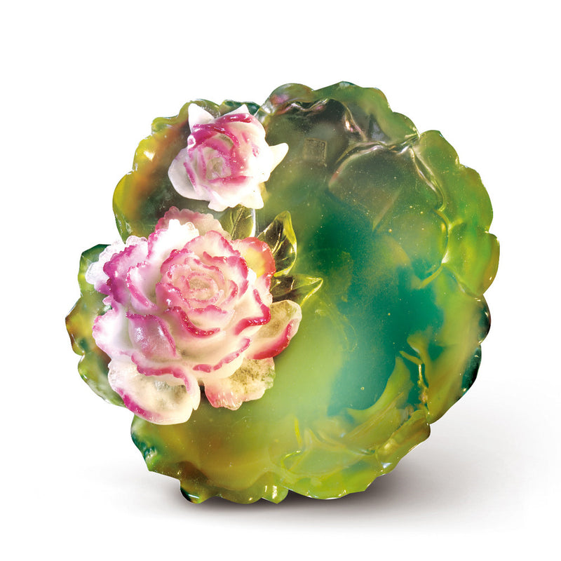 Crystal Flower, Flower of the Month, Peony-April - LIULI Crystal Art