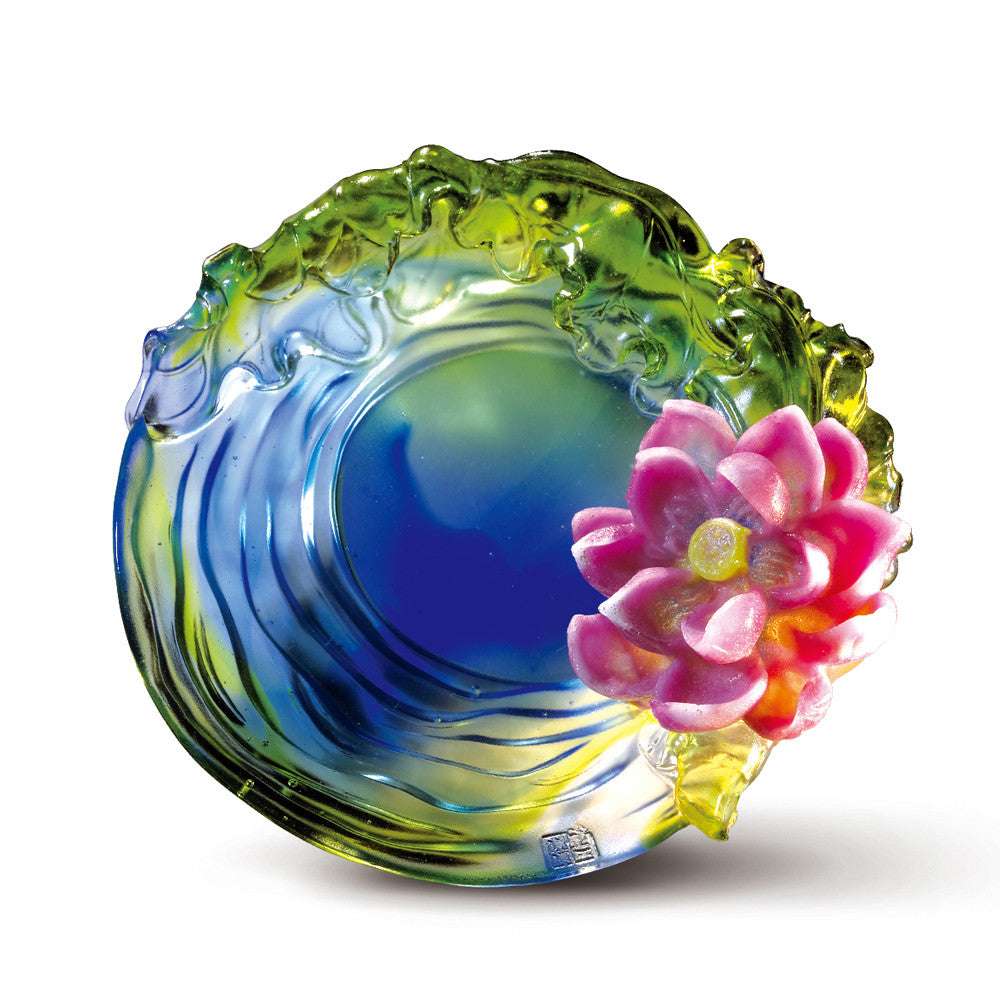 Crystal Flower, Flower of the Month, Lotus-June - LIULI Crystal Art