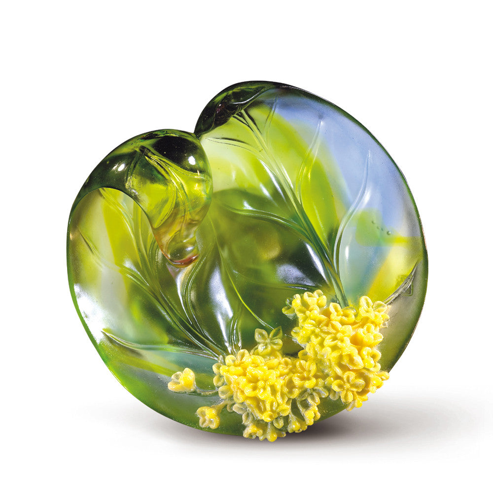 August, Sweet-scented Osmanthus (Noble) - Osmanthus Flower Figurine - LIULI Crystal Art