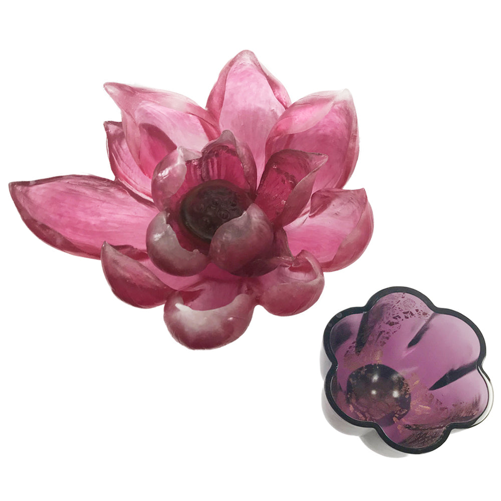 Fiery Red: Lotus Flower Figurine (Like Liuli, Like Flower) - LIULI Crystal Art - [variant_title].