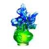 Crystal Flower, Iris, A Dance in the Spring Wind - LIULI Crystal Art