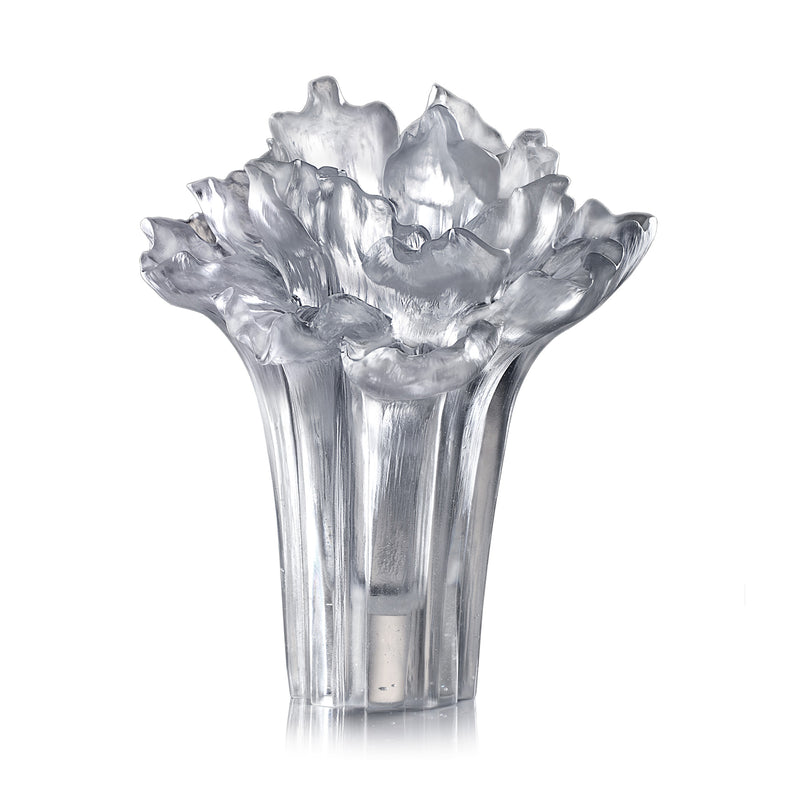 Crystal Flower, Peony Bloom, Our Great Beauty - LIULI Crystal Art - Powder White.