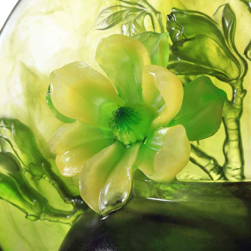 Crystal Flower, Magnolia, World of Beautiful Compassion - LIULI Crystal Art - [variant_title].