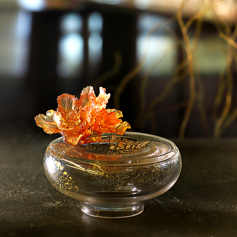 Crystal Flower, Tulip, One Moon For All Blooms - LIULI Crystal Art