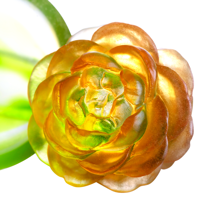 Crystal Flower, Camellia Bloom, Destined Harmony - LIULI Crystal Art