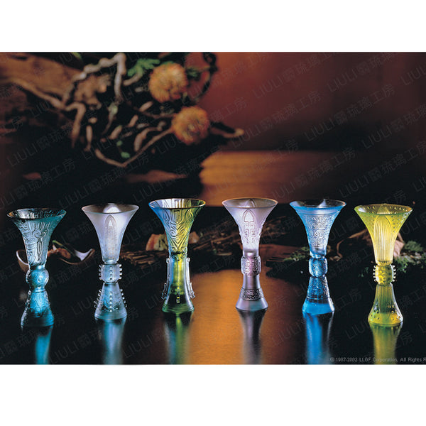 Presenting Wine-Six Classic Pieces (Set of 6) - LIULI Crystal Art | Collectible Glass Art