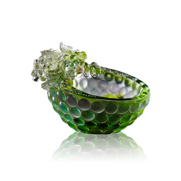 "Small Decoration Bowl (Grape) - ""Luck for All Time"" - LIULI Crystal Art 