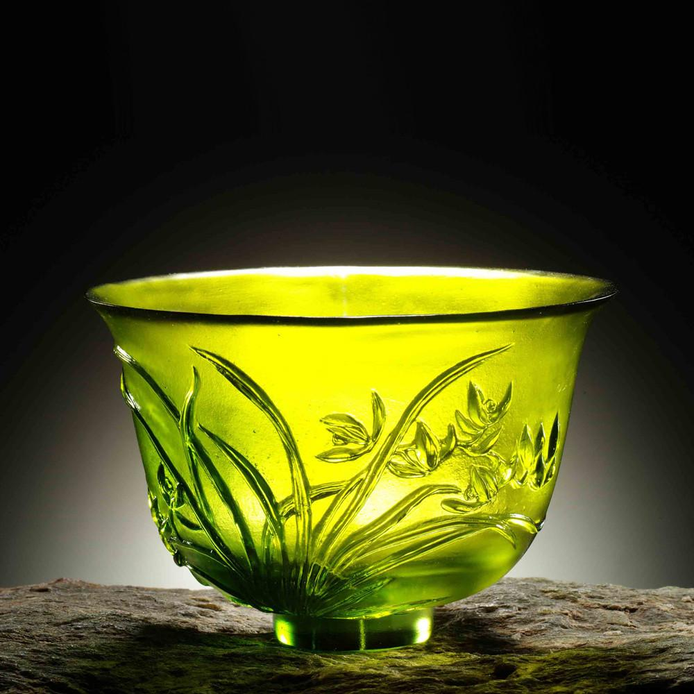 The Four Gentlemen, Crystal Bowl - The Orchid Gentleman - LIULI Crystal Art - [variant_title].