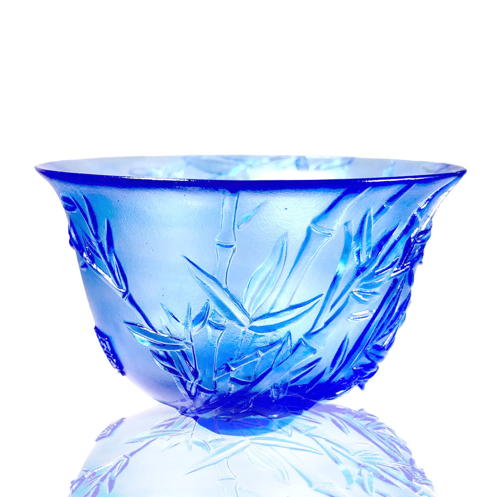 The Four Gentlemen, Crystal Bowl - The Green Gentleman - LIULI Crystal Art - [variant_title].
