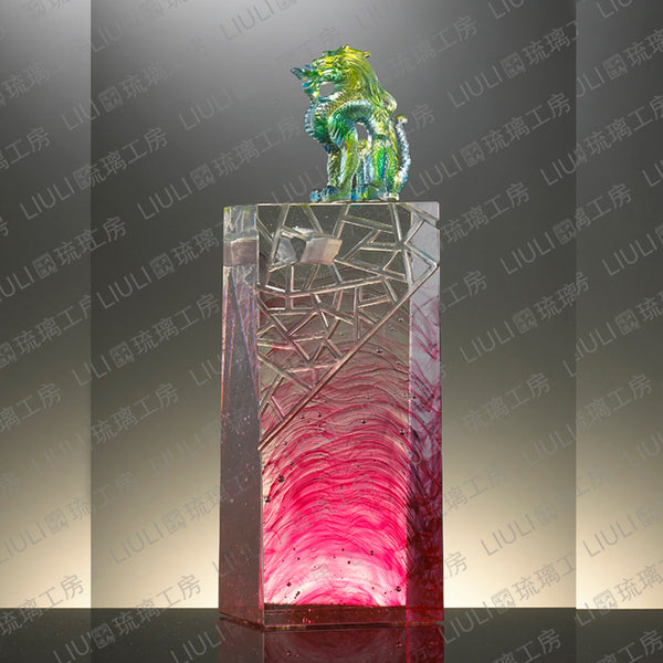 "Dragon of Excellency - ""Outstanding Achievement"" - LIULI Crystal Art"