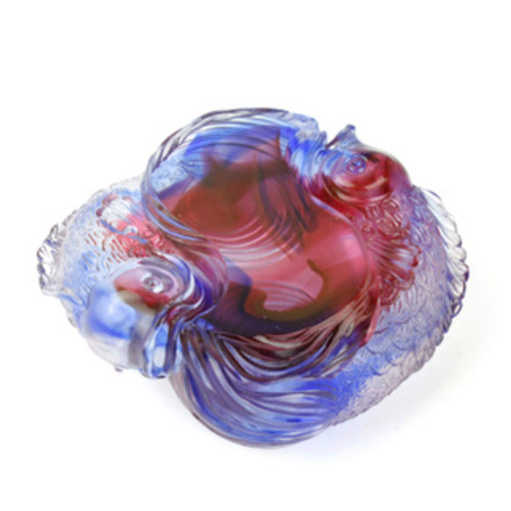 Crystal Paperweight, Fish, Rows of Joy - LIULI Crystal Art