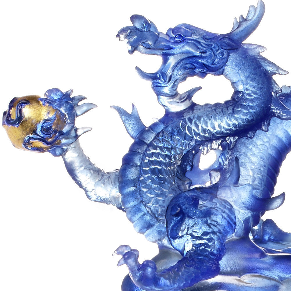 "Dragon of Leadership - ""Appearance of the Influential Dragon"" - LIULI Crystal Art - [variant_title]."