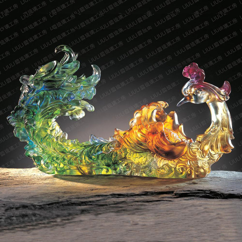 Crystal Ruyi, Phoenix, Outstanding Beauty - LIULI Crystal Art