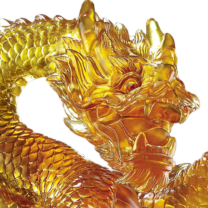 An Overwhelming Force from the East - Dragon of Authority (Artist's collection) - LIULI Crystal Art