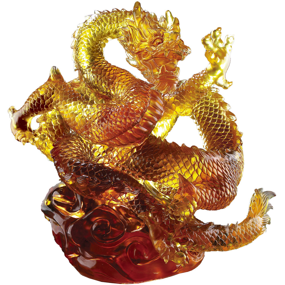 An Overwhelming Force from the East - Dragon of Authority (Artist's collection) - LIULI Crystal Art - [variant_title].