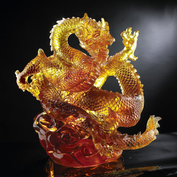 "Dragon of Authority - ""An Overwhelming Force from the East"" (Artist's collection) - LIULI Crystal Art 