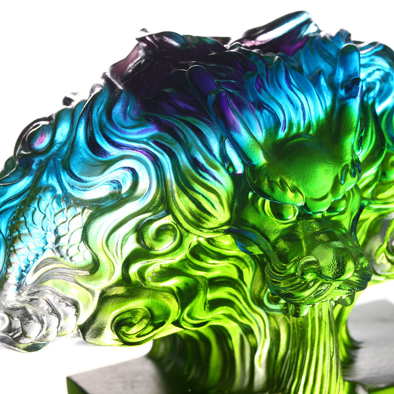 Congregation of Goodwill - Dragon of Auspiciousness - LIULI Crystal Art