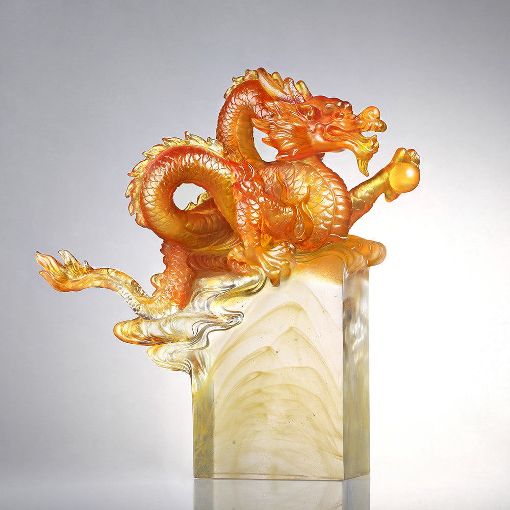 Crystal Mythical Creature, Dragon, Age of the Rising Dragon - LIULI Crystal Art
