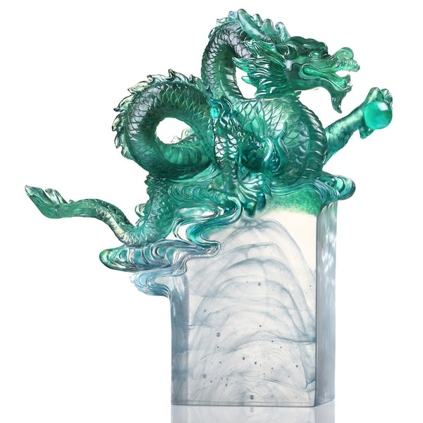 Age of the Rising Dragon (Momentum) - Dragon of Vigorous - LIULI Crystal Art