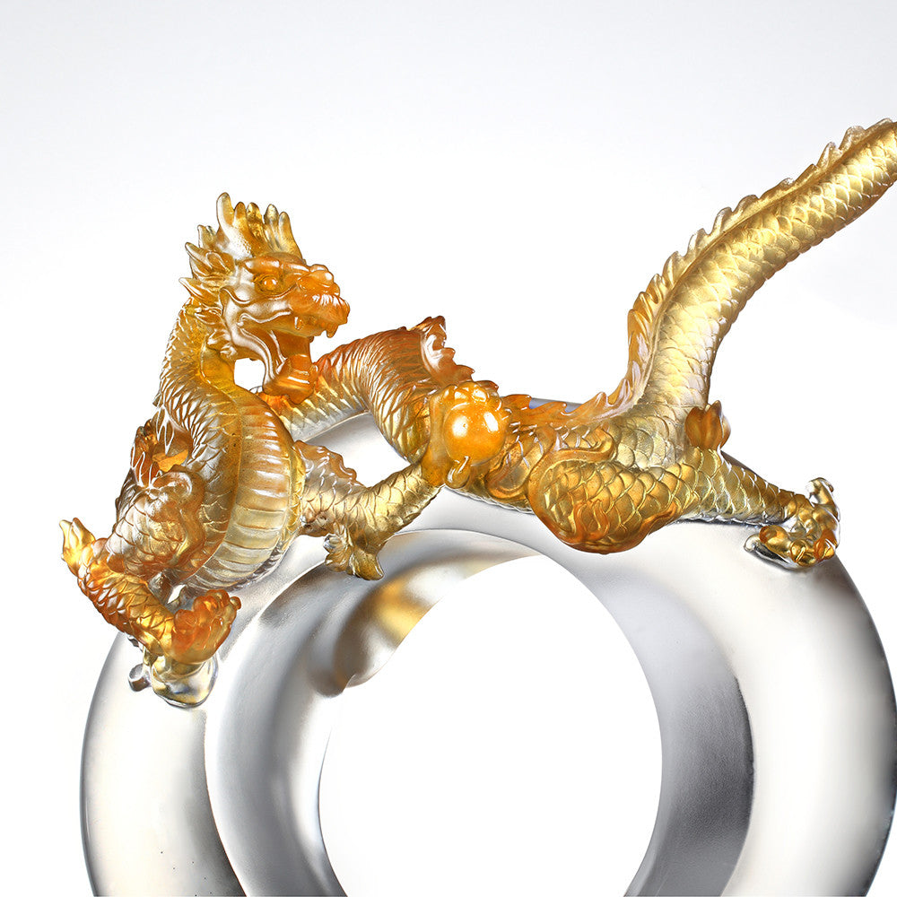 Dragon in Motion (Hope) - Odyssey Across Heaven and Earth - LIULI Crystal Art