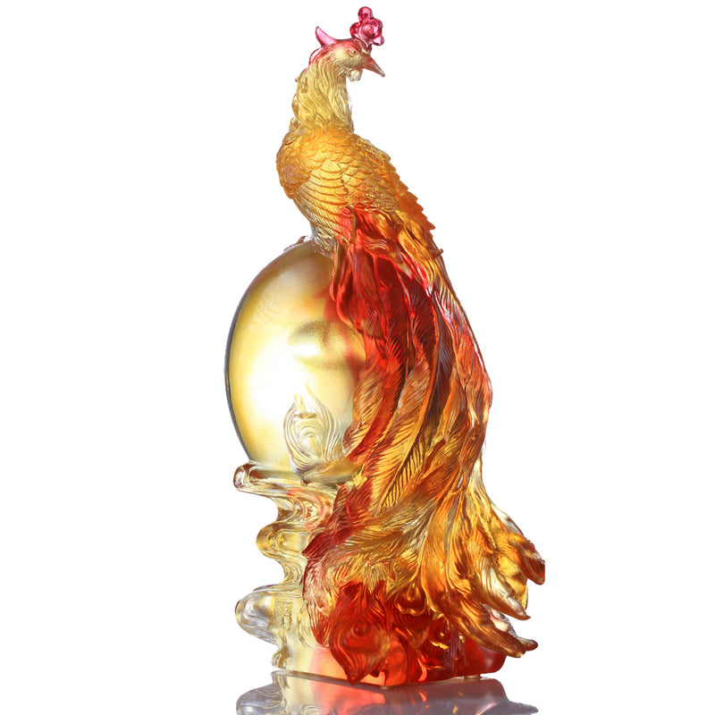 Crystal Mythical Creature, Phoenix, Splendor of the Phoenix - LIULI Crystal Art